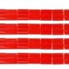 Miyuki Tila Beads 5X5mm 2 Hole Red Opaque